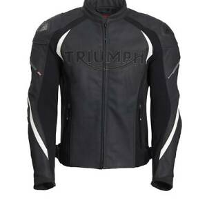 New Genuine Triumph Triple Tri-stretch Leather Racing Jacket / Jeans MLPS20530
