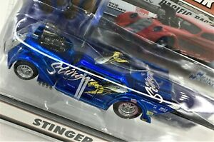 Muscle Machines Nitro Coupe* 33 Willys Drag Car* STINGER * BLUE * 1:64