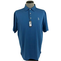 NWT Peter Millar Summer Comfort Mens L Golf Polo Wicking Stretch Rochester Shirt