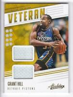 2019-20 Grant Hill Jersey Panini Absolute Pistons Tools Of The Trade