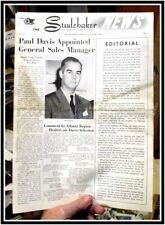 Studebaker News dealer paper Jan 1945 6pg Weasel w MacArthur in Philippines more