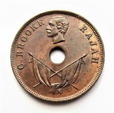 Sarawak -  C. Brooke Rajah - 1897 H - One Cent -  Heaton Mint