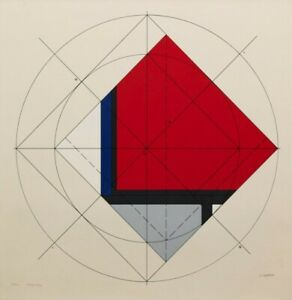 Jean Gorin - signed and numbered colour screenprint 1978