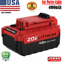 20V For PORTER CABLE PCC685L PCC680L Max Lithium-Ion 4.0AH Battery PCC682 PCC681