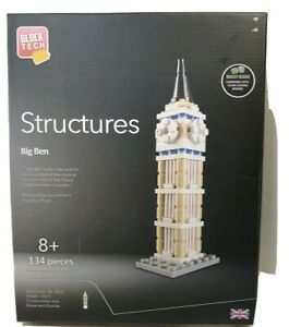 Block Tech Structures  Big Ben  134 piece set for age 8+ New