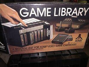 Vintage Atari 2600 Game Library Cartridge Holder Organizer In Box