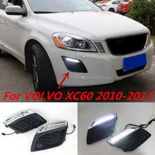 2x White LED DRL Driving Daytime Running Day Fog Lamp For Volvo XC60 2011-2013