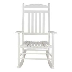 Rocking Chair Porch Wood Outdoor Armchair Commercial Residential Classic White