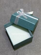 "Metallic Teal White Foam Bridal Jewelry Ring Proposal Box ""Top Of The Line"" Gift"