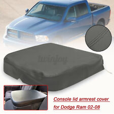 For Dodge Ram 1500 2500 02-09 Armrest Console Lid Leather Replacement Cover