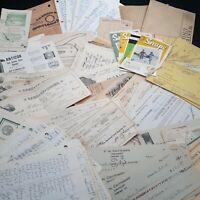 Ephemera lot  junk journaling receipts checks handwriting Rx vintage 3/4 lb
