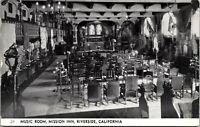 Vtg 1920's RPPC Music Room at Mission Inn, Riverside California CA Postcard