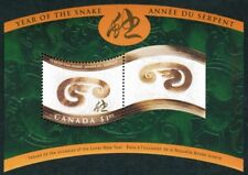 Canada — Souvenir Sheet — 2001, Chinese/Lunar New Year of the Snake #1884 — MNH