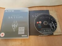 The Elder Scrolls V Skyrim (Sony PlayStation 3, 2011) Complete with Manual & Map