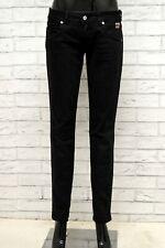 Jeans Donna DONDUP Taglia Size 28 Pantalone Pants Woman Cotone Slim Fit Nero