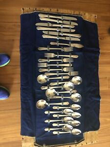 Paramount WM A ROGERS SILVERPLATE FLATWARE Overlaid Oneida Ltd 1933 Set