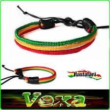 Jah Bracelet Rasta Reggae Wristband Bangle Bob Marley One Love Cotton cord BR05