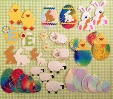 34 Lot Easter mulberry paper assortment bunnies eggs chicks sheep lambs bunny