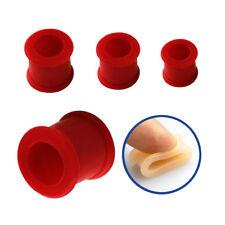 4 mm - 51 mm Ø bollos túnel, piercing, oreja, Double flared-BASIC-silicona rojo