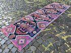 Carpet, Turkish rug, Vintage rug, Handmade rug, Runner, Wool | 2,6 x 9,0 ft