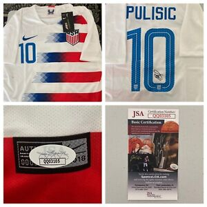 Christian Pulisic Signed Autograph US Men's National Team Jersey JSA - FREE S&H!