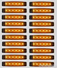 20 pièce 24V 6 LED marquage latéral orange ambré FEUX pour camion renault