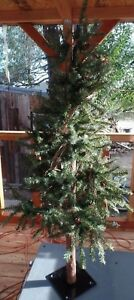 """48"""" Skinny Pine Real Wood Trunk Faux /Christmas Tree"""
