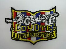Coyote A.J. Foyt Enterprises Collector Emblem Iron on Patch