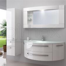 Designer Waschtisch Côte d'Azur inkl. Seitenschrank Armatur Spiegel Badmöbel