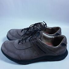 Women's Clarks Unstructured Casual Walking Shoes-Brown Nubuck Leather-10 M