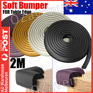 Bumper Strip Table Edge Corner Protector Kids Safety Foam Rubber Safety 2M