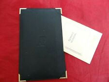 Very Fine Audemars Piquet AP Black Leather Folder Card Service Holder