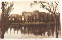 .c1930 TORRENS LAKE & RAILWAY STATION, ADELAIDE, SOUTH AUSTRALIA POSTCARD.