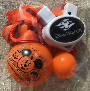 New Disney Parks Cruise Line DCL Halloween 2020 Pumpkin Light Up Lanyard Mickey