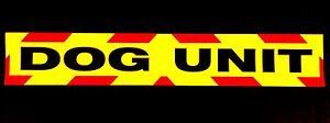 Dog Unit Fluorescent Magnetic Warning Sign