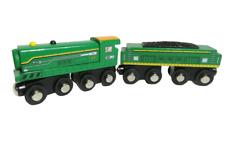 Maison Joseph #047 Green Wooden Railway Train Engine Coal Cargo Car Lot