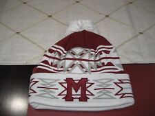 MENS MONTREAL MAROONS GEOTECH Mitchell & Ness Winter BEANIE HAT MAROON/WHT  NWT
