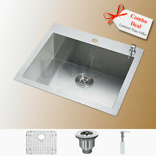 Designer Sink, Zero Radius Sink, Top Mount Kitchen Sink, 24 Inch Sink, KTS2421