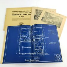 Vintage Architectural Blueprints Mid Century House Residential Drawings Plans #2