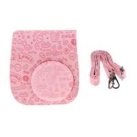 Leather Camera Case Bag for Polaroid Mini 8 Fuji Fujifilm Instax Camera Pink