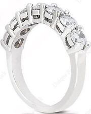 7 Diamond Wedding Ring 14k gold Band 1.06 carat F-G color Si1 clarity 7 x .15 ct