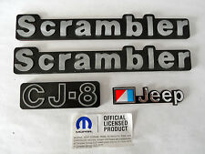 JEEP CJ8 SCRAMBLER EMBLEM & BADGE KIT-4 PIECES MOPAR APPROVED REPRODUCTIONS
