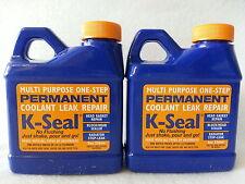 2 BOTTLES K-SEAL Permanent Coolant Leak Repair 8 oz Head Gasket Radiator KSEAL