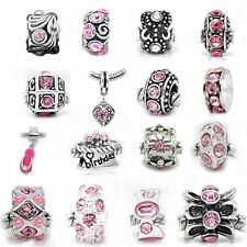 Ten (10) of Assorted Pink Crystal Rhinestone Beads
