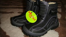 NWT NEW MINIBEL 20 BLACK LEATHER BOOTS BOYS US 4