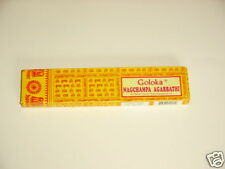 Räucherstäbchen Goloka Nag Champa 16 gr.,Räucher Klassiker gelb,Duft Indien Buda