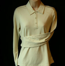 Women's Oakley Stretch Longshot Golf Polo Shirt Blouse Top Uk14 Large L/s