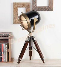 Nautical Designer Tripod Lamp Searchlight Spot Light Vintage Industrial Marine