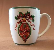 Christopher Radko Traditions Holiday Celebrations Green Trim Red Ornament Mug