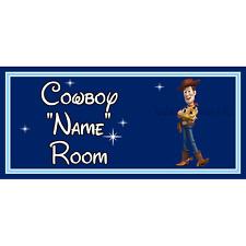 Personnalisé Cowboy Enfants Chambre à Coucher Porte Signe – Disney Toy Story Woody DB